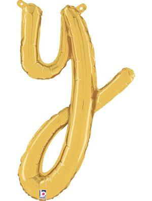 Globo foil letra Y Dorado Script Letters