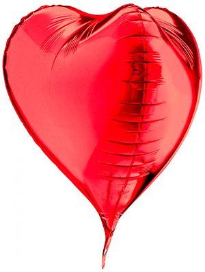 Globo Corazón 3D Rojo 58cm