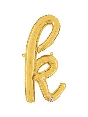 Globo foil letra K Dorado Script Letters