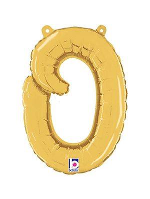 Globo foil letra O Dorado Script Letters
