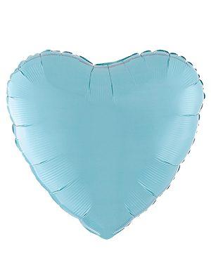 """Globo foil corazón mate Azul 18"""""""