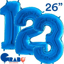66 cms. Azul