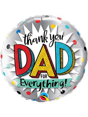 Globo foil Thank You Dad For Everything 18""