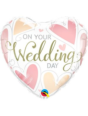 Globo foil On Your Wedding Day Hearts