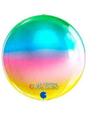 "Esfera foil Rainbow 15"" 38 cms."