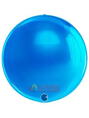 """Esfera foil Azul 15"""" 38 cms."""