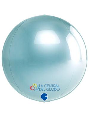 """Esfera foil Azul pastel 15"""" 38 cms."""