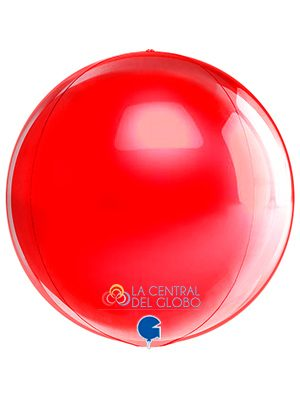 "Esfera foil Rojo 15"" 38 cms."