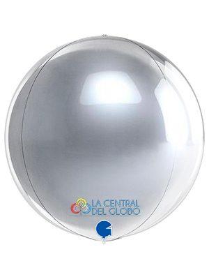 "Esfera foil Plata 15"" 38 cms."