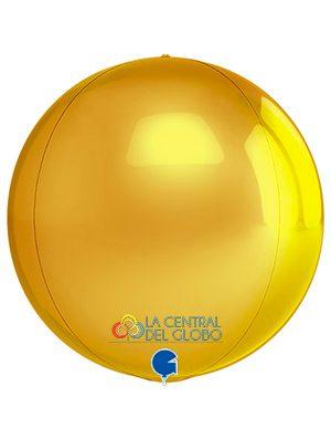 "Esfera foil Gold 15"" 38 cms."
