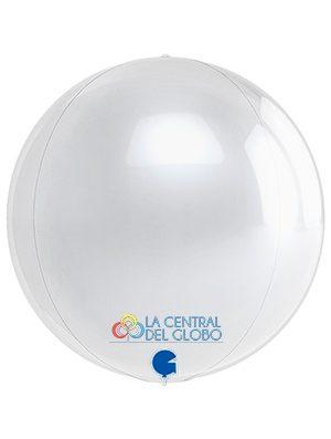 "Esfera foil Blanco 15"" 38 cms."