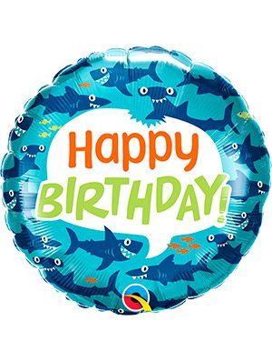 Globo foil Birthday Fun Sharks