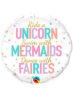 Globo foil Unicorn/Mermaids/Fairies