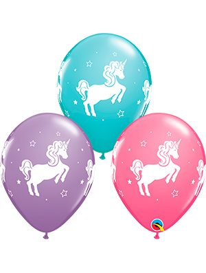 Globo látex surtido Whimsical Unicorn