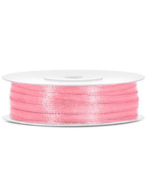 Cinta de satén rosa claro 3mm/50m