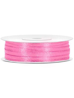 Cinta de satén rosa 3mm/50m