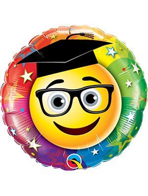 Globo foil Smiley Graduate