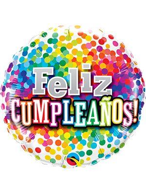 Globo foil Cumpleaños Rainbow Confetti