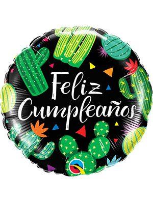 Globo foil Cumpleaños Cactuses