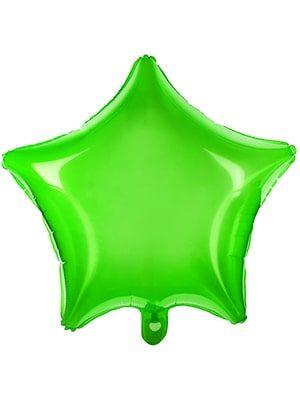 Estrella transparente verde