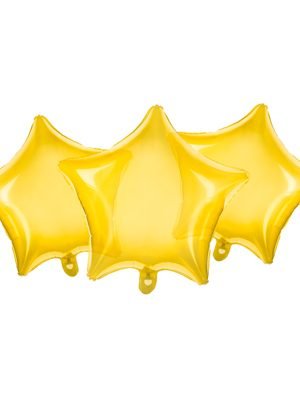 Estrella transparente amarillo