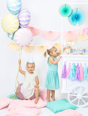 Globo foil Candy azul pastel
