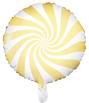 Globo foil Candy amarillo pastel
