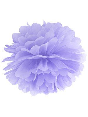 Pompón de papel lila claro 35 cms.