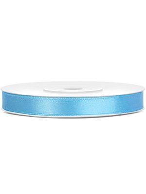 Cinta de satén azul claro 6mm/25m