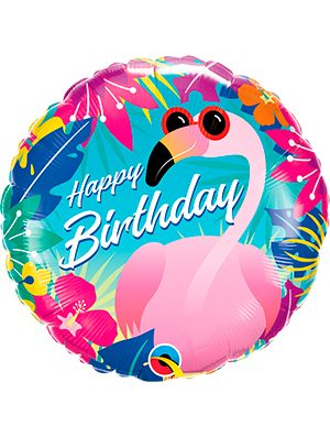 Globo foil Birthday Tropical Flamingo