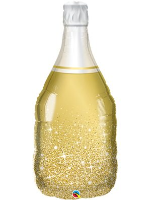Globo foil Wine Bottle dorado