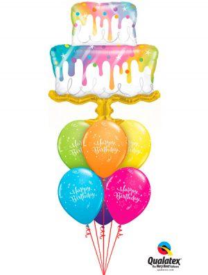 Globo Foil tarta Rainbow Drip