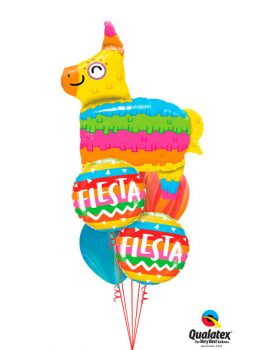 Globo foil Fiesta Rainbow Stripes