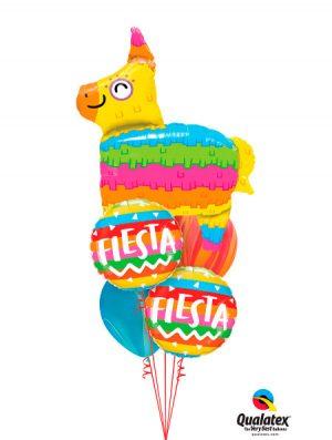 Globo foil Fiesta Rainbow Stripes