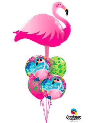 Globo foil Birthday Tropical Flamingo