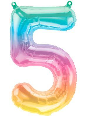 Globo foil pequeño numero Cinco