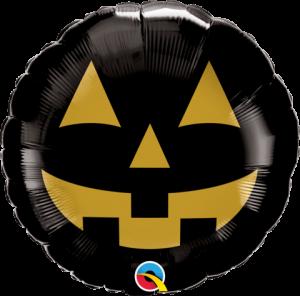 """Globo foil Jack Face Black & Gold 9"""""""