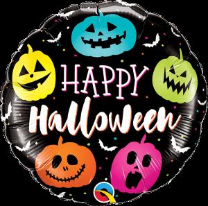 Globo foil Halloween Jack Faces