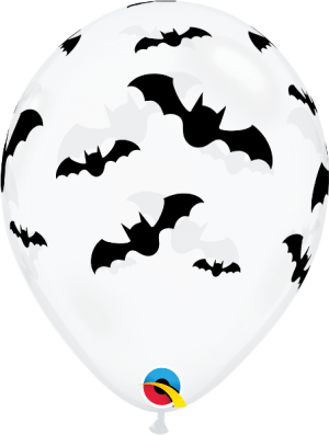 Globo látex Bats transparente
