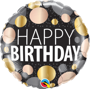 Globo foil Birthday Big Metallic Dots