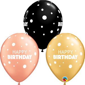 Globo látex Birthday Big & Little Dots surtido
