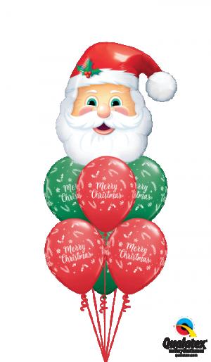 Globo látex Christmas Evergreen rojo y verde