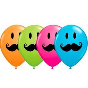 Globo látex Smile Face Mustache surtido 50u