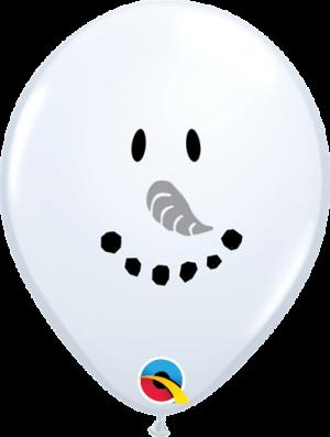 Globo látex Smile Face Snowman