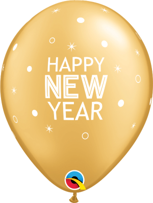 Globo látex New Year Sparkles & Dots surtido