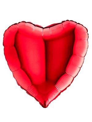 """Globo foil corazón rojo 18"""""""