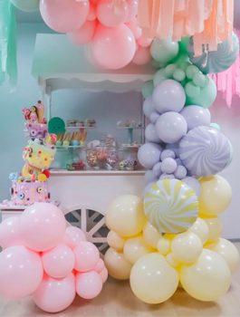 globos pastel mate
