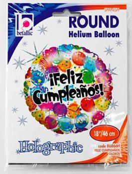 Globo foil Feliz Cumpleaños globos