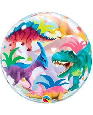 Globo Bubble Dinosaurios Colourful