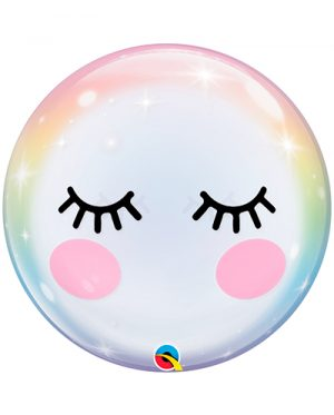 Globo Bubble ojos unicornio eyelashes